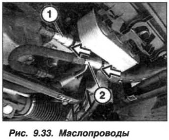 Рис. 9.33. Маслопроводы БМВ Х5 Е53