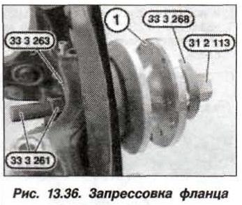 Рис. 13.36. Запрессовка фланца БМВ Х5 Е53