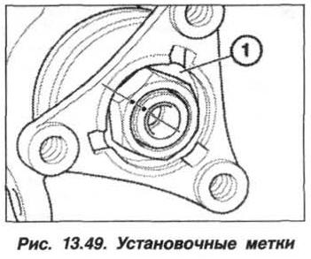 Рис. 13.49. Установочные метки БМВ Х5 Е53
