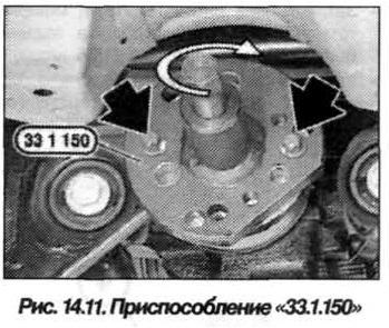 Рис. 14.11. Приспособление 33.1.150 БМВ Х5 Е53