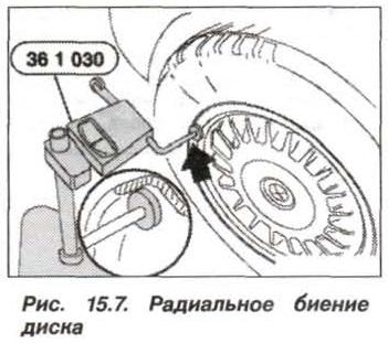 Рис. 15.7. Радиальное биение диска БМВ Х5 Е53