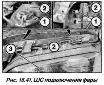 Рис. 16.41. ШС подключения фары БМВ Х5 Е53