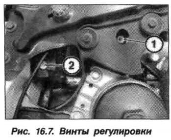 Рис. 16.7. Винты регулировки БМВ Х5 Е53