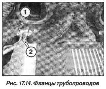 Рис. 17.14. Фланцы трубопроводов БМВ X5 E53
