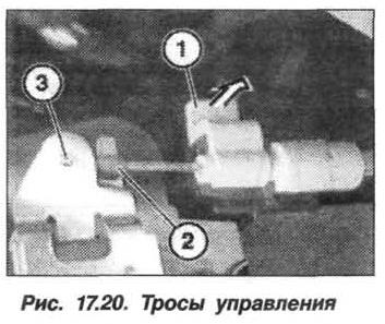 Рис. 17.20. Тросы управления БМВ X5 E53