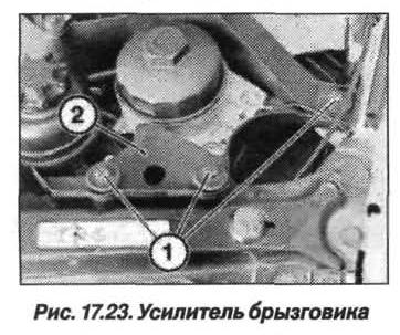 Рис. 17.23. Усилитель брызговика БМВ X5 E53