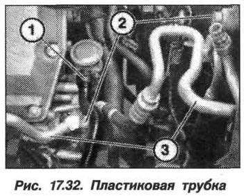 Рис. 17.32. Пластиковая труба БМВ X5 E53