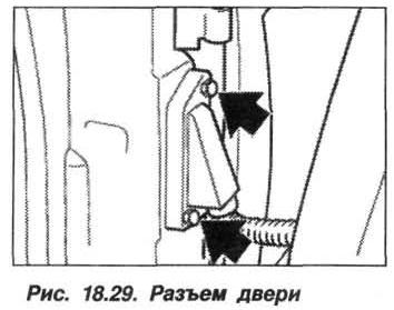 Рис. 18.29. Разъем дверей БМВ X5 E53