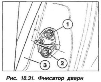Рис. 18.31. Фиксатор двери БМВ X5 E53