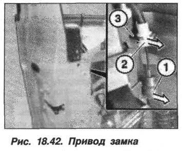 Рис. 18.42. Привод замка БМВ X5 E53