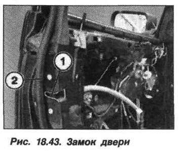 Рис. 18.43. Замок двери БМВ X5 E53