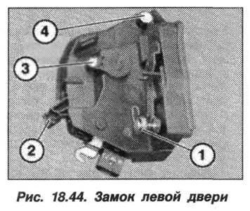 Рис. 18.44. Замок левой двери БМВ X5 E53