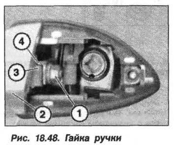 Рис. 18.48. Гайка ручки БМВ X5 E53