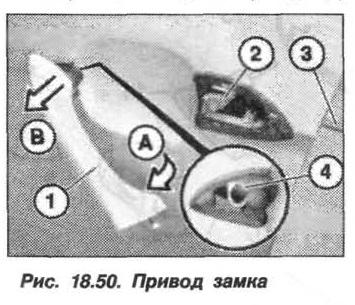 Рис. 18.50. Привод замка БМВ X5 E53
