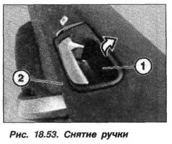 Рис. 18.53. Снятие ручки БМВ X5 E53