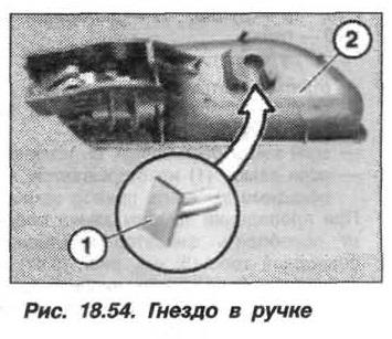 Рис. 18.54. Гнездо в ручке БМВ X5 E53