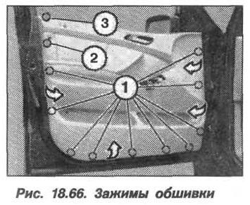 Рис. 18.66. Зажимы обшивки БМВ X5 E53