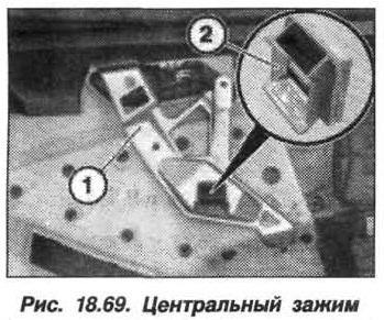 Рис. 18.69. Центральный зажим БМВ X5 E53
