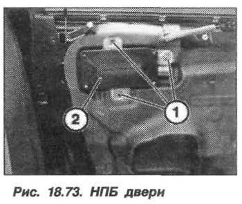 Рис. 18.73. НПБ двери БМВ X5 E53