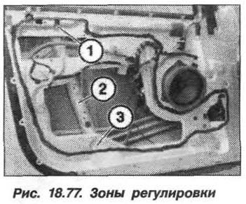 Рис. 18.77. Зоны регулировки БМВ X5 E53