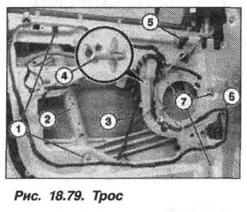 Рис. 18.79. Трос БМВ X5 E53