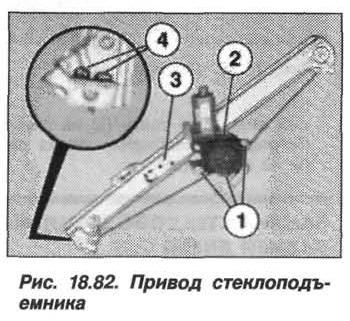 Рис. 18.82. Привод стеклоподъемника БМВ X5 E53