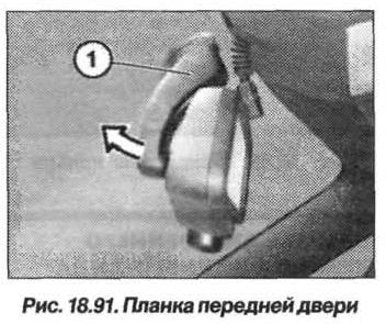 Рис. 18.91. Планка передней двери БМВ X5 E53