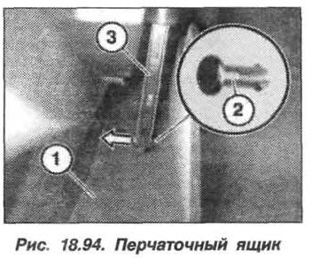 Рис. 18.94. Перчаточный ящик БМВ X5 E53