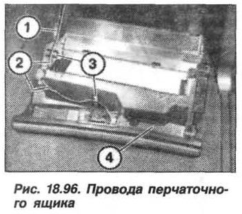 Рис. 18.96. Провода перчаточного ящика БМВ X5 E53
